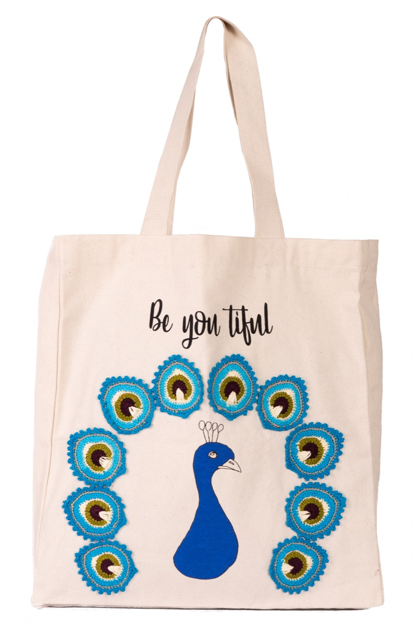 Happy Threads Women's Tote Bag (Peacock)