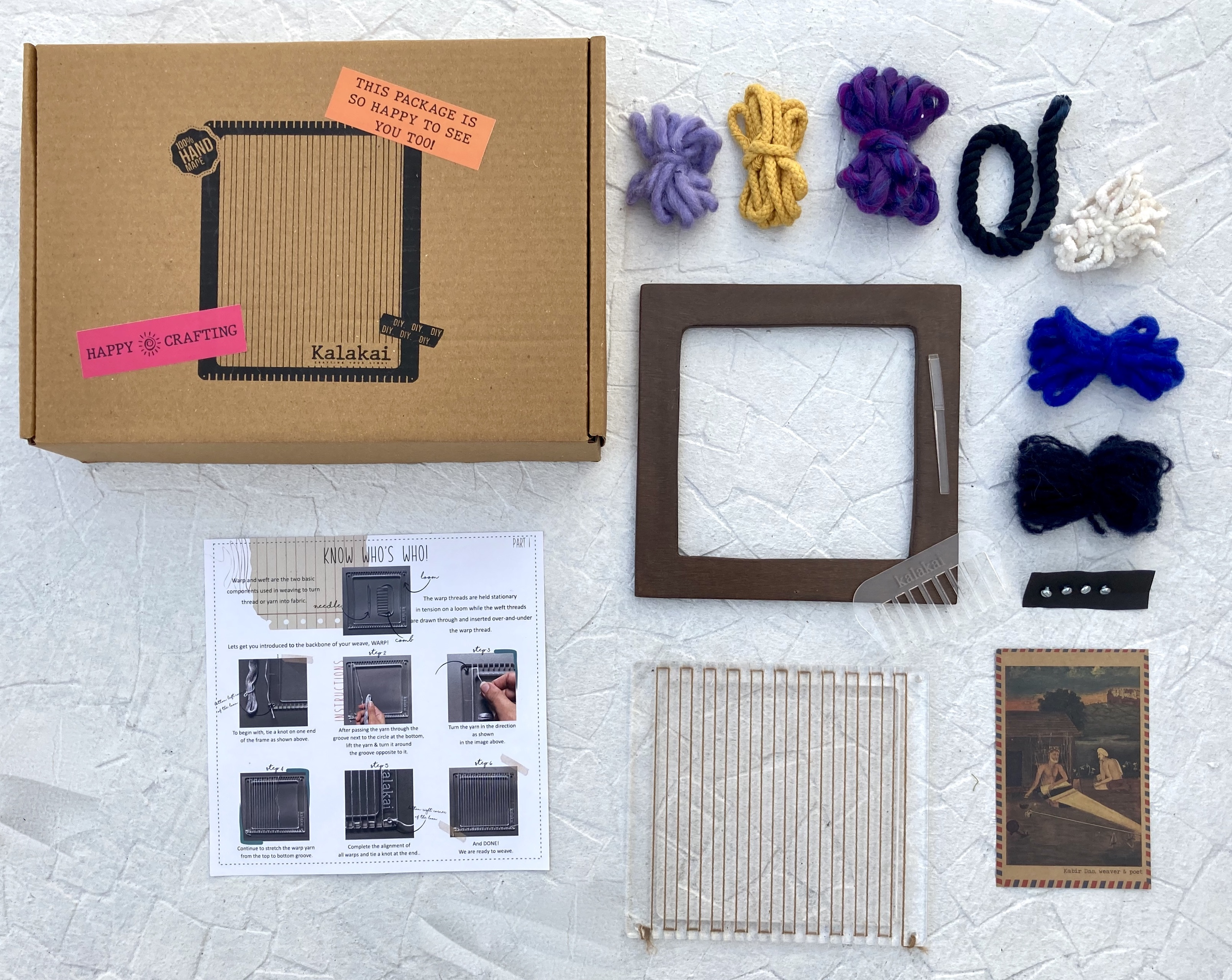 Ambar weaving DIY kit | Square