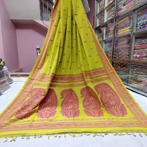 Khadi Cotton Baluchari Saree