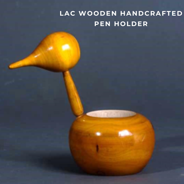 Lac wooden Handcrafted Pen Holder