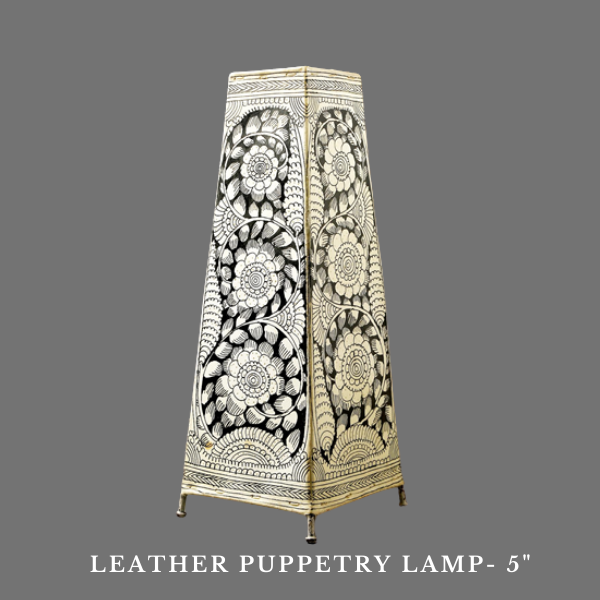 Leather puppetry lamp