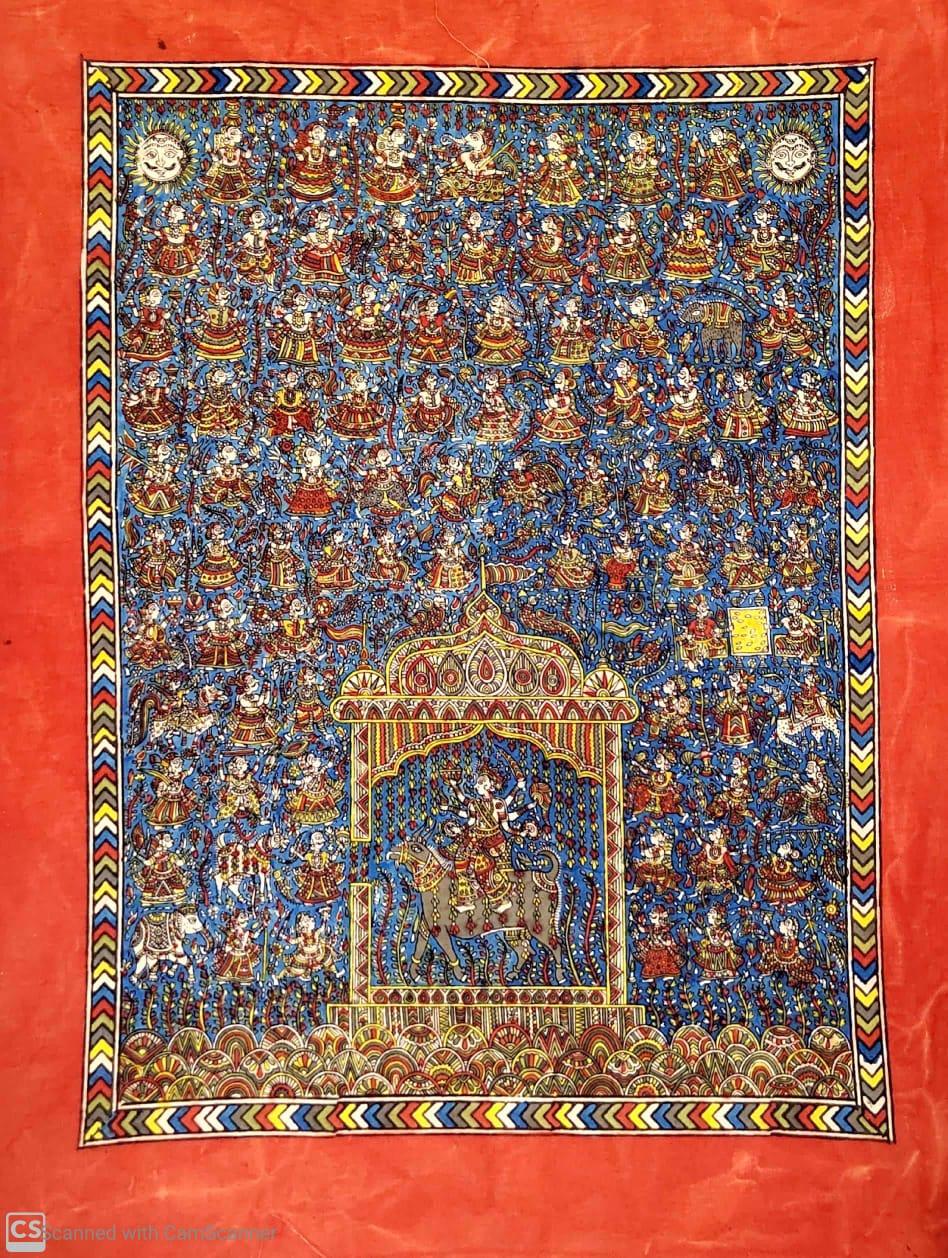Meldi Mata Wall Hanging (Kalamkari)