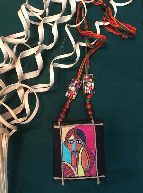 Nari roop hand painted Neckpiece