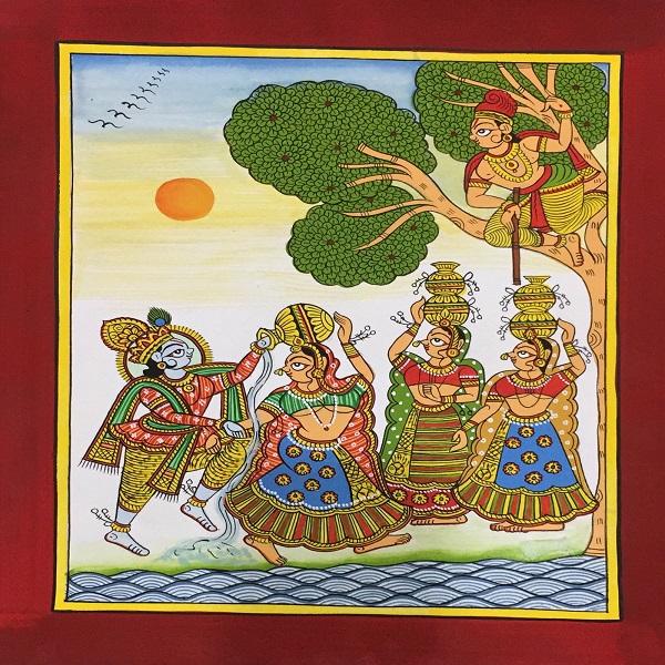 Natkhat Krishna PHAD Painting - directcreate.com