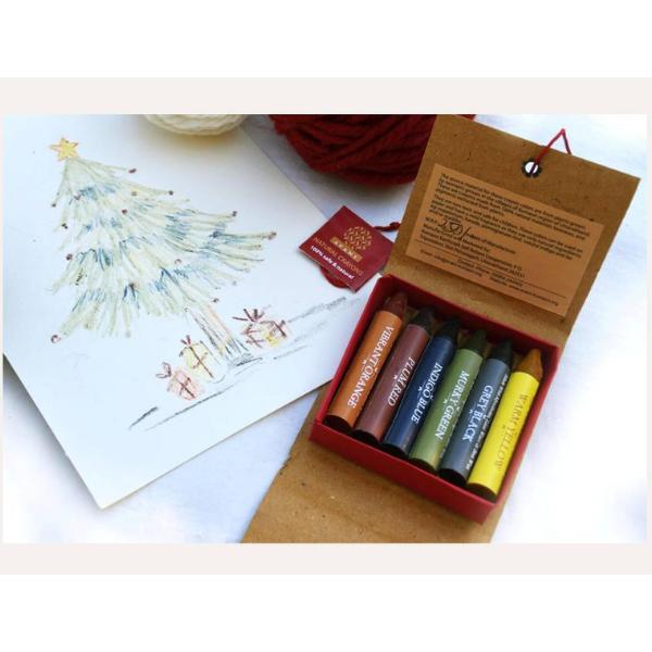 Natural Crayons (set of 6 colors)