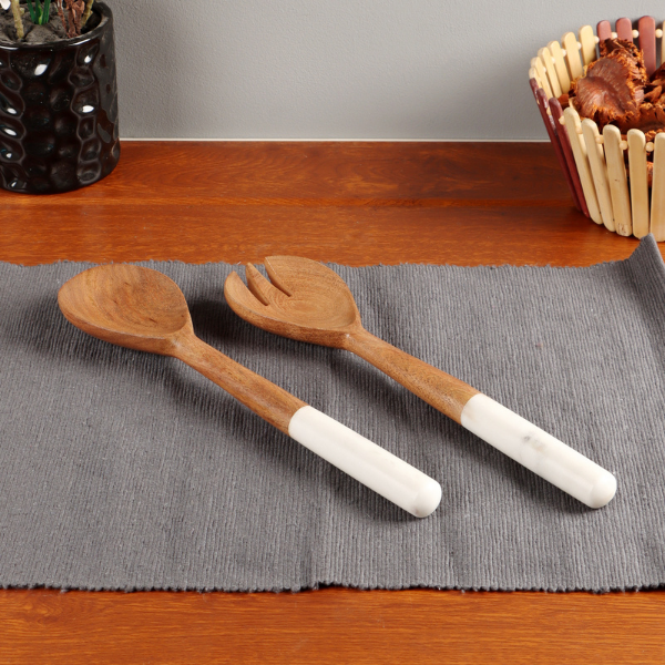 Nikki's Pride Marble Wooden Cutlery Set