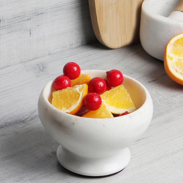 NikkisPride  Marble Pedestal fruit bowl in banswara marble
