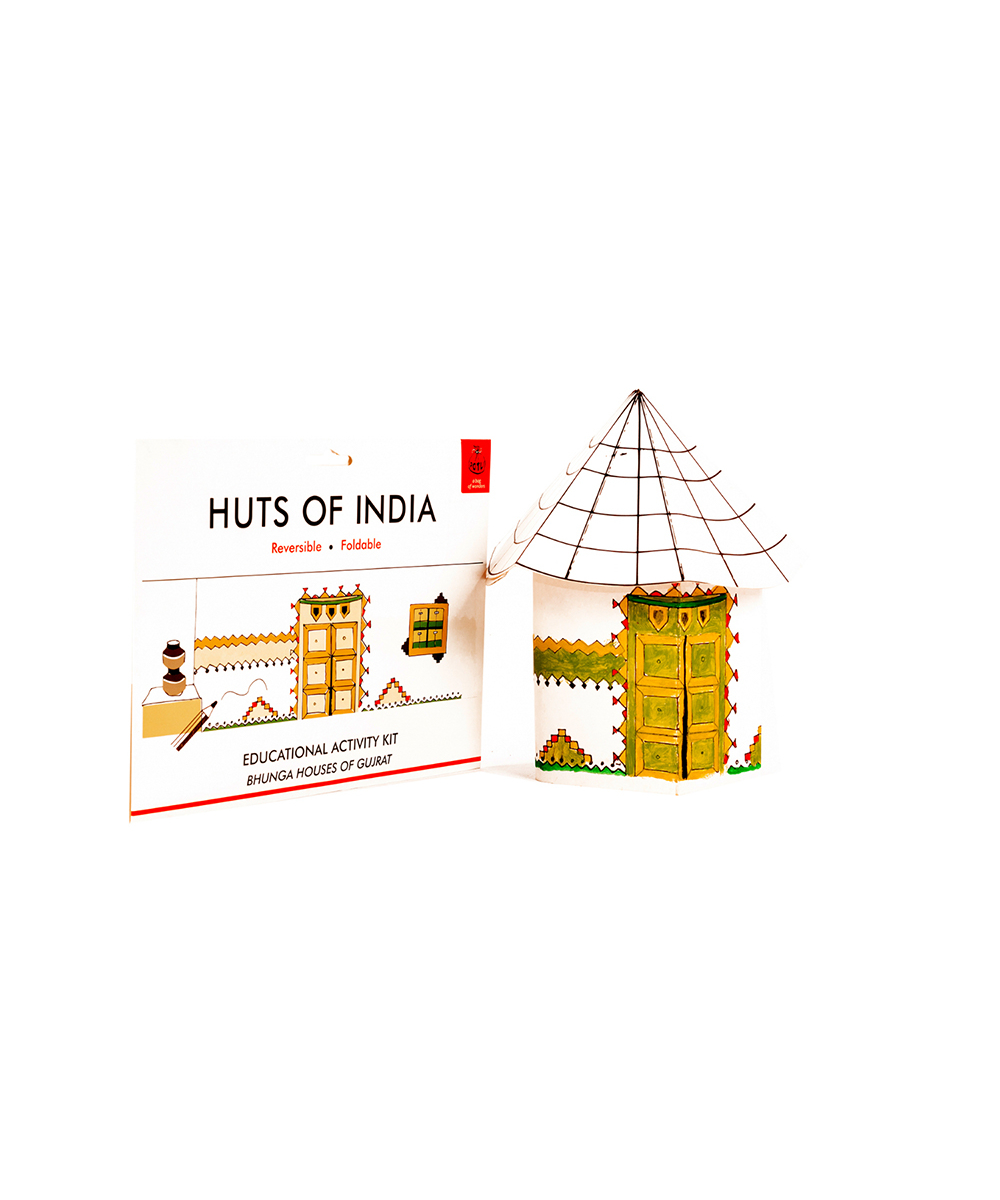 POTLI Handmade Educational DIY Colouring Kit for Our Young Architects (Bonga Huts of Gujrat) Learning Activity for ( 7 Years +)