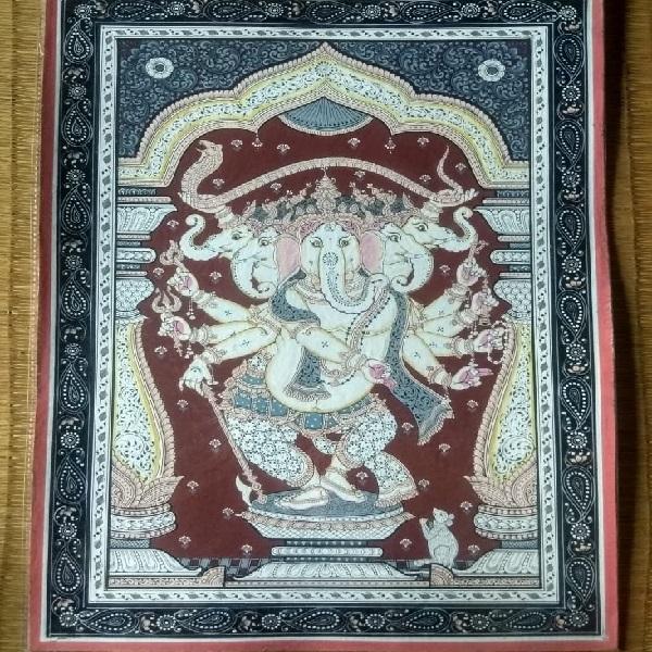 Panchamukhi Ganesha Pattachitra Painting