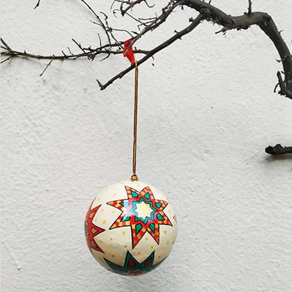Papier Mache Christmas Ball
