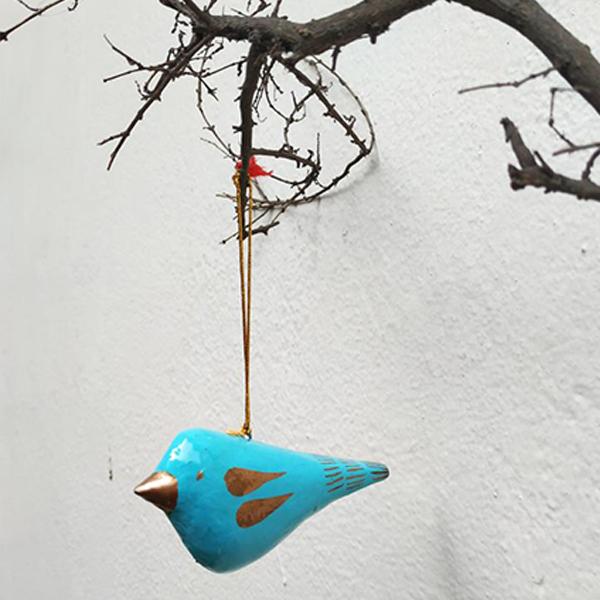 Papier Mache Sparrow