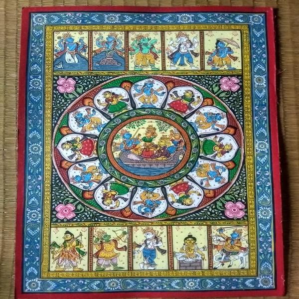 Pattachitra painting Krishna Dasabatara