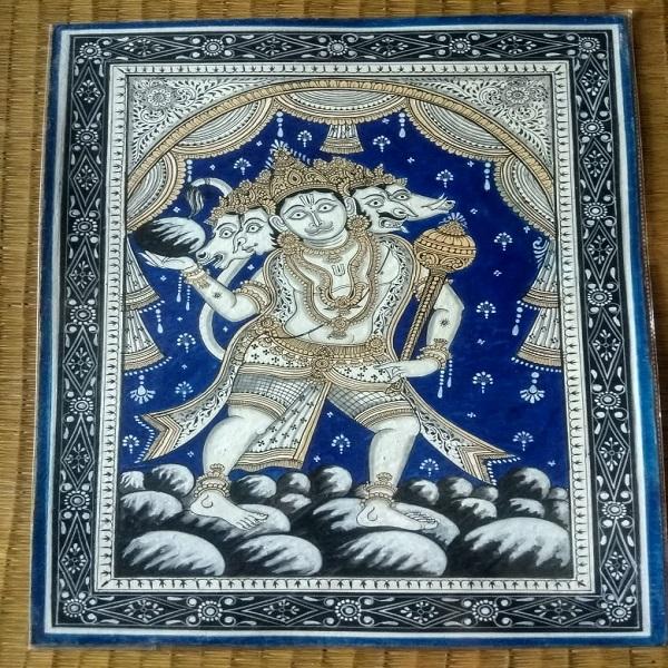 Pattachitra painting pancha mukhi Hanuman