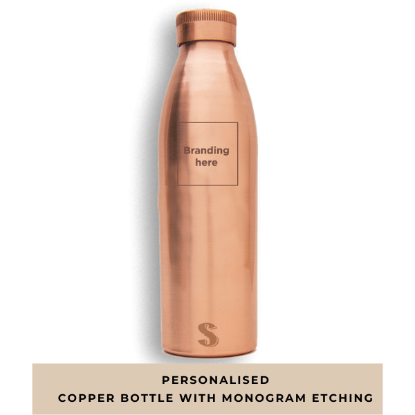 Personalised copper Bottle with monogram