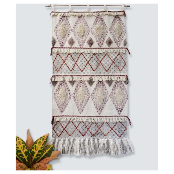 RARE- WALL HANGING - OFF WHITE