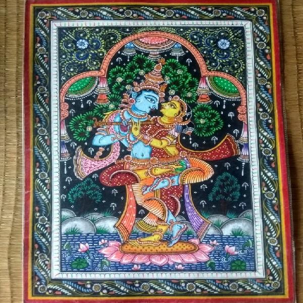 Radha Krishna Pattachitra Painting