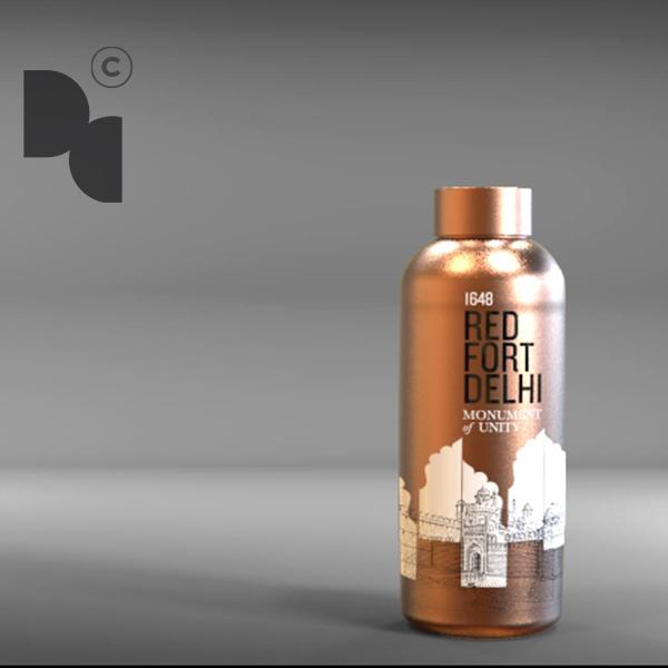 Red Fort Copper Bottle
