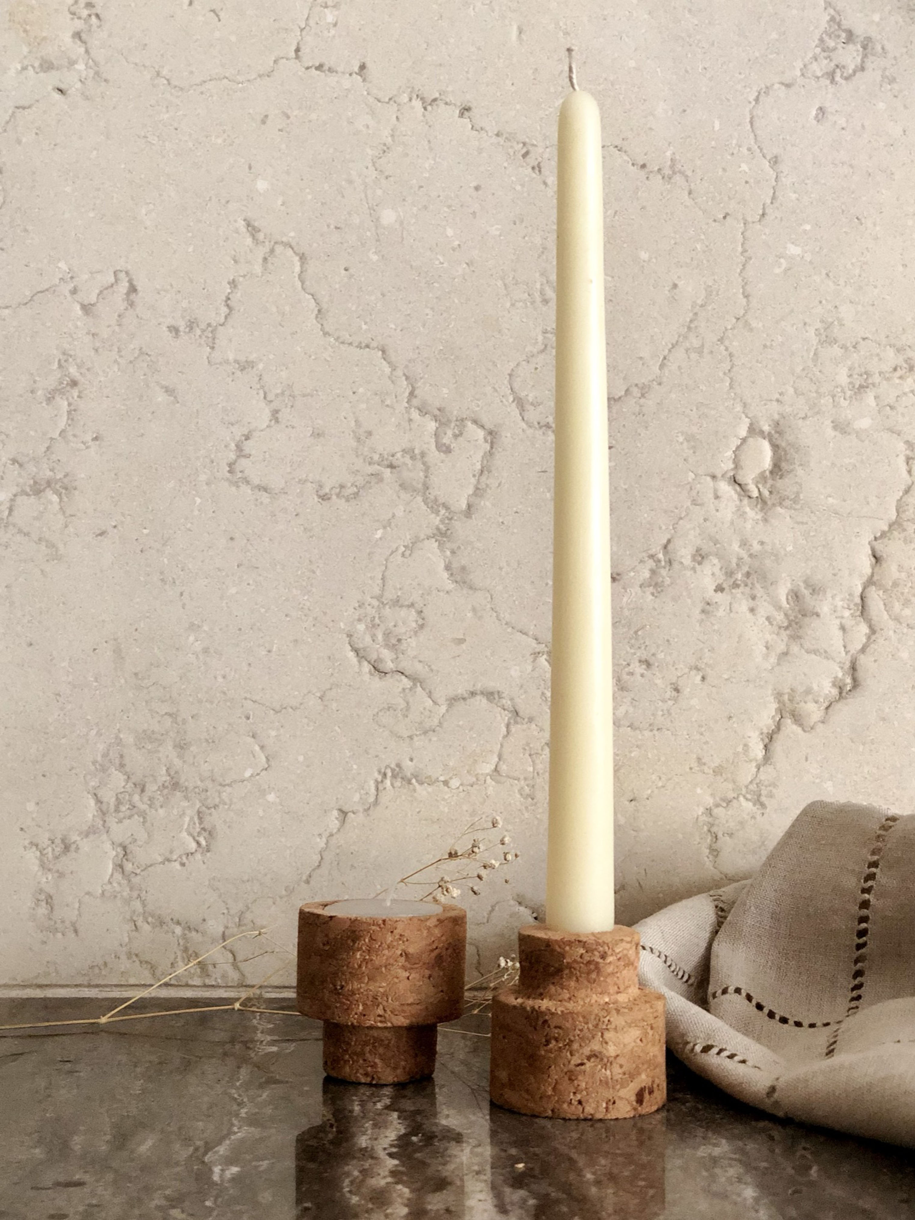 Reversible Candle Stands (Cork)