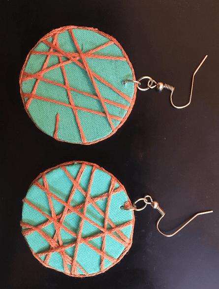 Round Maze design Earrings