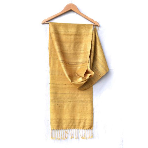 Silk Wool Scarf (yellow & yellow)