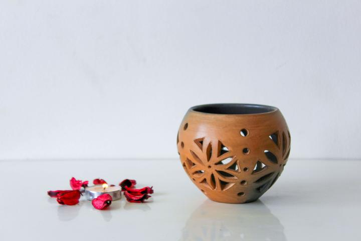 Tea Light Candle Holder - Double Baked