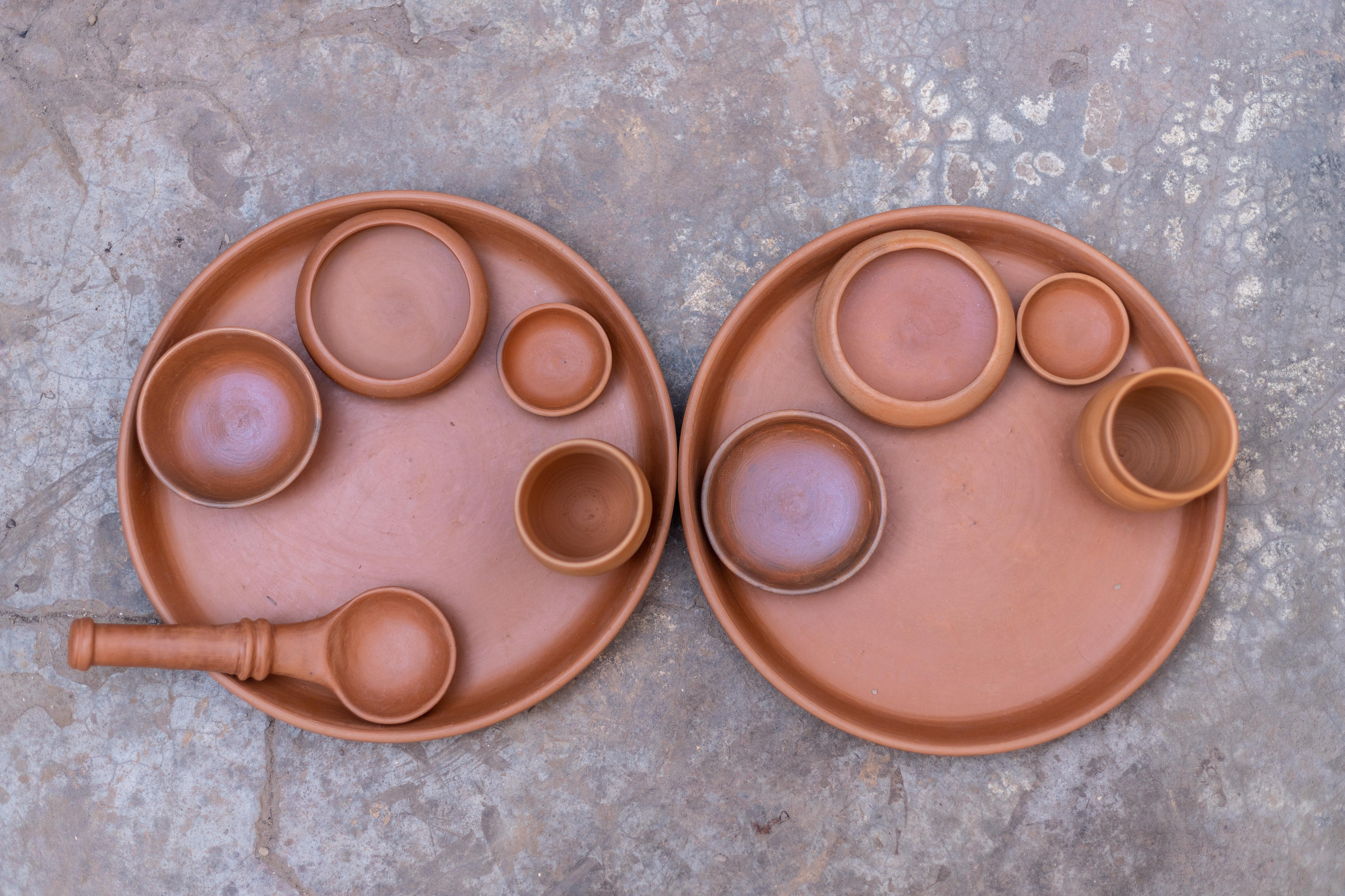Terracotta Dinner Set for Two