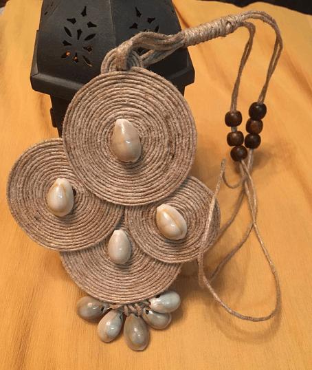 Tribal - Jute Neckpiece with Kaudi