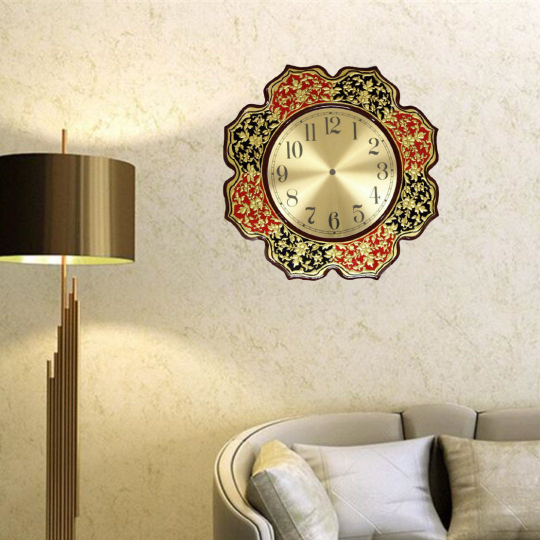 Usta Art Premium Golden Wall Clock