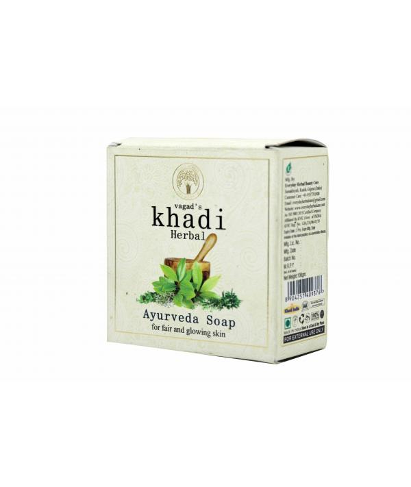 Vagad's Khadi Ayurveda Milky Soap For Fair And Glowing Skin