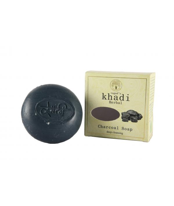 Vagad's Khadi Deep Cleansing Charcoal Milky Soap