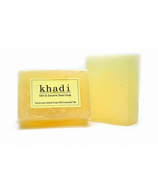 Vagad's Khadi Mint And Sesame Seed Soap