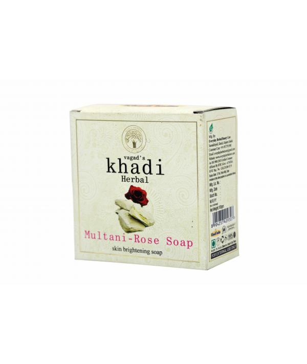 Vagad's Khadi Multani And Rose Milky Soap For Skin Brightening