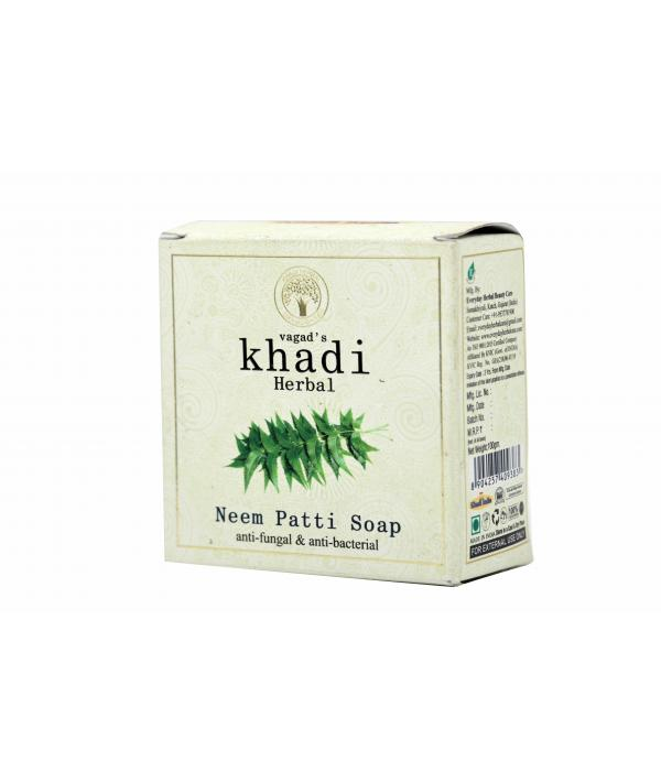 Vagad's Khadi Neem Patti Anti Fungal And Anti Bacterial Milky Soap