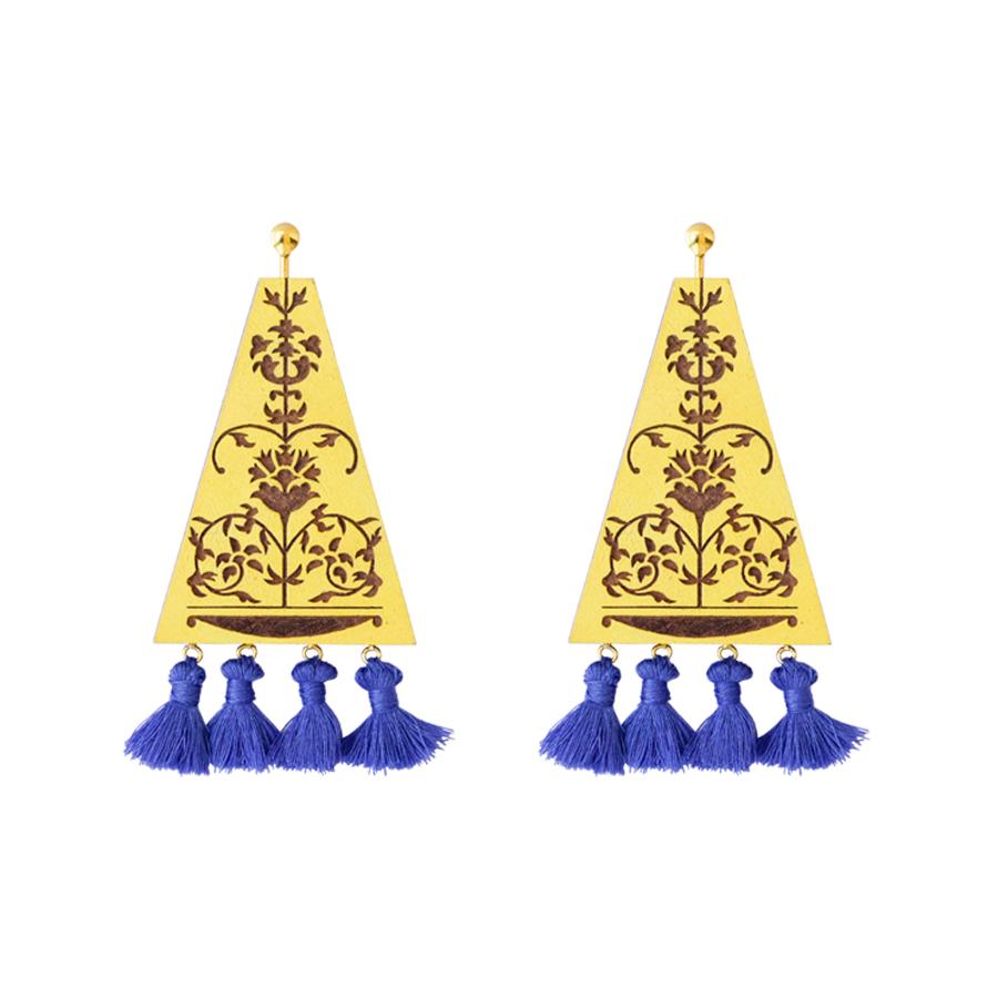 Vinayaki Haldi Indigo Earrings