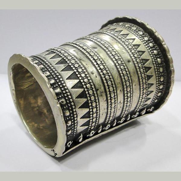 Vintage antique ethnic tribal old silver cuff Bracelet bangle