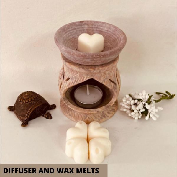 Wax melts with diffuser