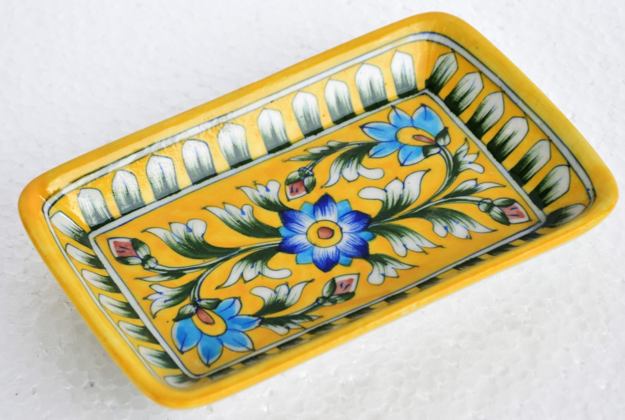 Blue Pottery Rectangle Plate