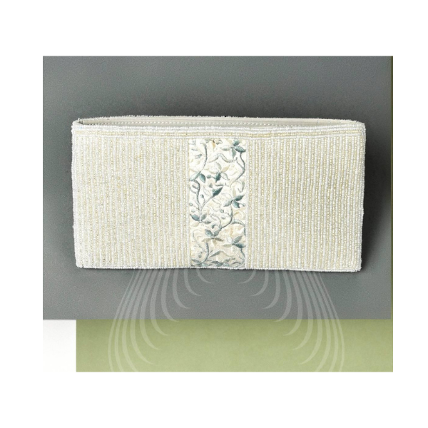 grey floral vintage kor pouch with beadwork(SP8)
