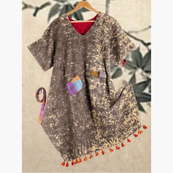 iron blot reversible organic cotton dress