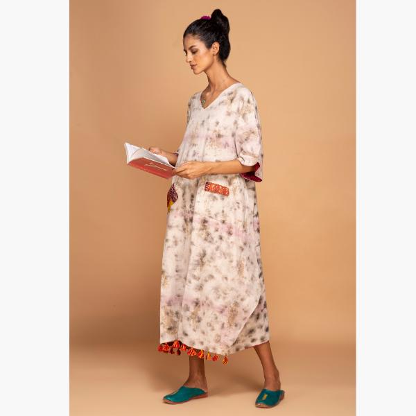 lac and iron kimono dress
