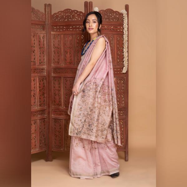 marigold and lac maheshwari cotton saree