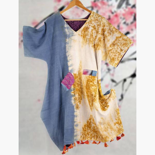neel marigold reversible organic kimono