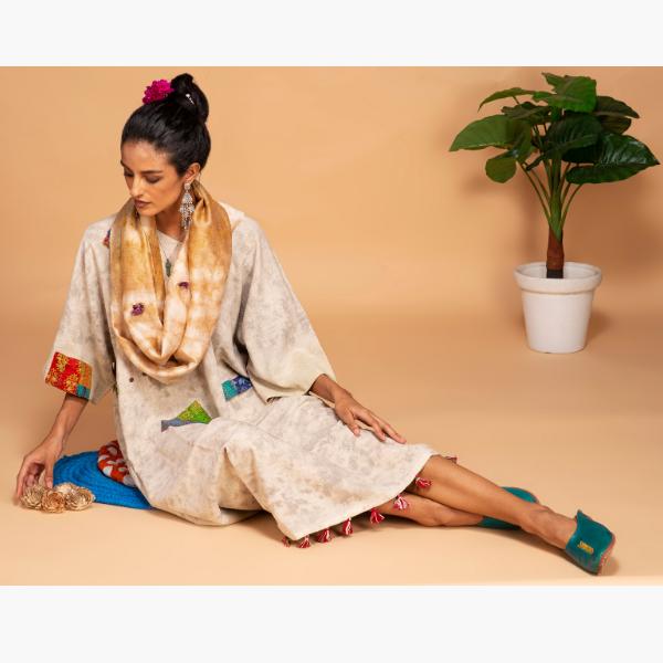walnut kimono dress