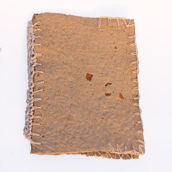 Paper Mache Book jacket [orange peel and paper pulp]