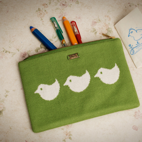 PLUCHI  COTTON STATIONERY BIRDIES POUCH