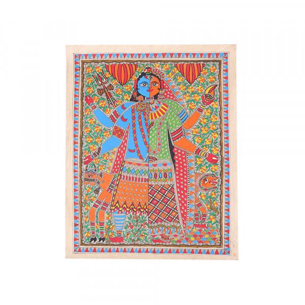Ardhnarishwar Madhubani painting