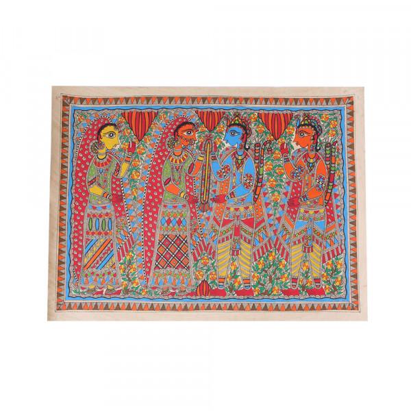 Seeta Ram Vivah Madhubani Painting