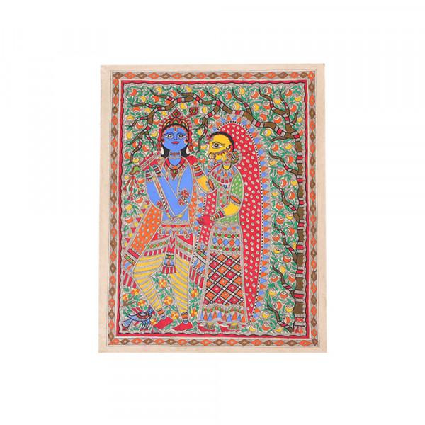 Radha-Krishna Madhubani Painting