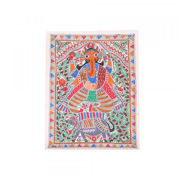 Ganpati Madhubani Painting