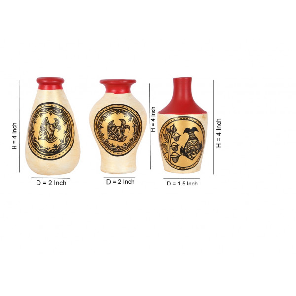 Terracotta Decorative mini Vase